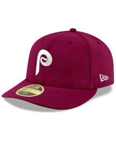 New Era Philadelphia Phillies Cooperstown Low Profile 59FIFTY Fitted Cap - Red 7 3/8