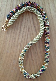 My 4 Favorite Places to Bead Shop for Kumihimo Patterns Beaded Necklace Patterns, Beaded Earrings, Beaded Bracelets, Crochet Beaded Necklace, Handmade Bracelets, Beaded Crafts, Jewelry Crafts, Motifs Perler, Necklace Tutorial