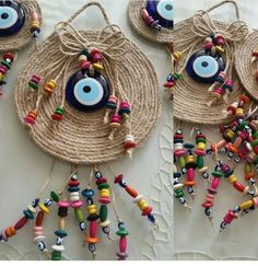 Diy Crafts For Gifts, Diy Home Crafts, Gifts For Kids, Burlap Crafts, Paper Crafts, Dream Catcher Decor, Creative Wall Decor, Crochet Eyes, Homemade Art