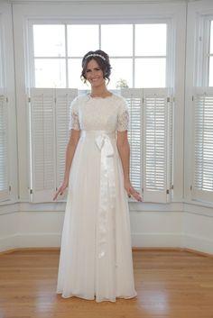 Christy, Modest Chiffon Wedding Dress