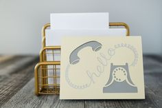 Hello phone card. Make It Now with the Cricut Explore Air machine in Cricut Design Space.