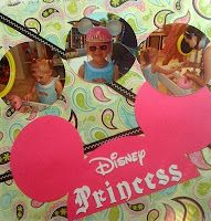 Disney Mouse Ears Scrapbook Layout Cool Beans by L.B.: