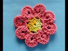 Como Fazer Flor de Crochê Passo a Passo Simples e Fácil Com Cristina Coelho Alves - YouTube
