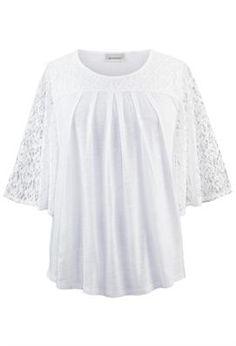 Lace Trim Top | Plus Size Knit Tops & Tees | Avenue
