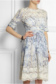 Zimmermann - Confetti embroidered floral-print cotton dress