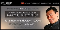 See you all at Essentiels with International Makeup Artist Marc Christopher!