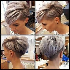 Today we have the most stylish 86 Cute Short Pixie Haircuts. We claim that you have never seen such elegant and eye-catching short hairstyles before. Pixie haircut, of course, offers a lot of options for the hair of the ladies'… Continue Reading → Short Hair Cuts For Women, Short Hairstyles For Women, Short Hair Styles, Short Men, Hairstyle Short, Undercut Hairstyles, Pixie Hairstyles, Undercut Pixie, Shaved Hairstyles