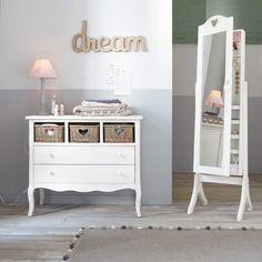 Valentine - Espejo de pie con almacenaje blanco Al. 160cm