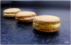 Macarons de chocolate y crema Macarons, Cheesecake, Chocolate, Desserts, Food, Cream, How To Make, Tailgate Desserts, Deserts