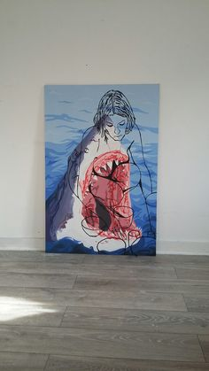 Jaws and Tracey. Acrylic on board.