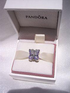 Authentic Pandora Sparkling Butterfly Purple Cz by JEWELSELAGANT