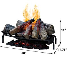 """Dimplex 28"""" Opti-Myst Open Hearth Electric Insert - DLGM29 ~ http://electricfireplaceheater.org/electric-heater-reviews/85-dimplex-optimyst-secrets-revealed.html"""