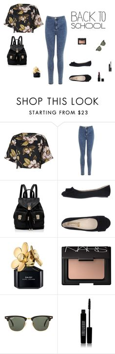 """""""Back to school"""" by mayascreativespace ❤ liked on Polyvore featuring By Malene Birger, Miss Selfridge, Forever New, Marc Jacobs, NARS Cosmetics, Ray-Ban and Lord & Berry"""