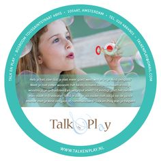 Talk en Play Circular Flyer (Front)