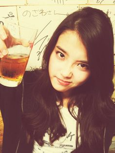 IU takes a selca with a glass of… beer? #allkpop #kpop #IU