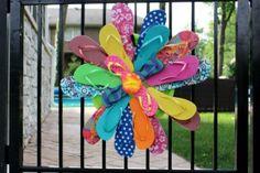 flip flop wreath DIY