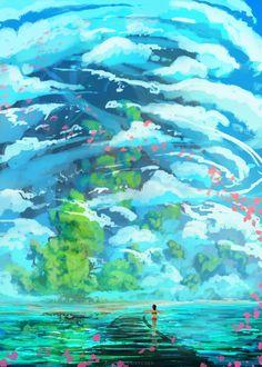 Chihiro on the railroad ( spirited away ) by AnatoFinnstark