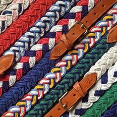 Belt you just can't have one. ⚓️ @kjp Shop these American-made beauties just in time for summer – link in bio. #BrooksBrothers