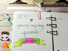 Saturday: day to relax and update your planner. • Brazil (Brasil), Filofax AND Tilifax addicts.