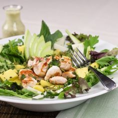 Warm chicken, chayote & Mango salad