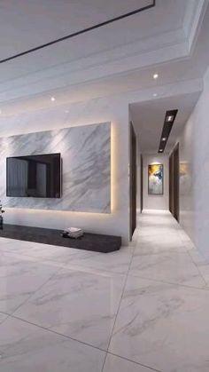 Living Room Tv Unit Designs, Ceiling Design Living Room, Home Room Design, Tv Wall Design, Design Case, Plaster Ceiling Design, False Ceiling Living Room, False Ceiling Design, Modern Tv Room