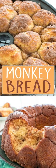 Monkey Bread: little bubbles of bread are coated in butter, cinnamon, and sugar. Crisp and caramelized on the outside but soft inside, this pull-apart bread is delicious breakfast or dessert! Yummy Appetizers, Appetizer Recipes, Dessert Recipes, Fresh Bread, Sweet Bread, Perfect Scones Recipe, Creative Desserts, Creative Ideas, Sugar Crisp