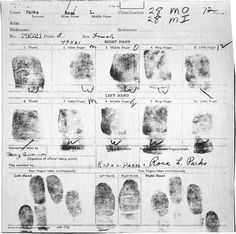 """Rosa Parks, the """"Mother of the Civil Rights Movement,"""" would have turned 100 today (February 4, 1913 - October 24, 2005):    Fingerprint Card of Rosa Parks   Aurelia S. Browder et al. v. W. A. Gayle et al., No. 1147, from the Civil Cases series of theRecords of District Courts of the United States    On December 1, 1955, during a typical evening rush hour in Montgomery, Alabama, a 42 year-old woman took a seat near the front of the bus on her way home from the Montgomery Fair department"""