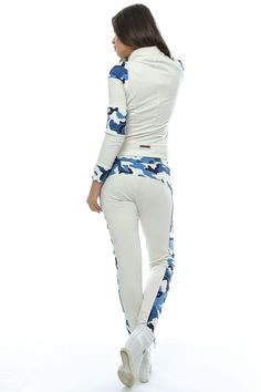 Lady's white blue set Foggi Air