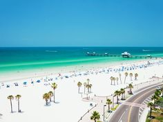 One of America's finest white-sand beaches, Clearwater Beach spans a narrow, 3-mile stretch of the Pinellas Peninsula on the Gulf Coast. Clearwater's proximity to Tampa offers visitors ample activities to enjoy, including beach volleyball, parasailing, a dolphin-watching cruise and a fun fishing excursion.
