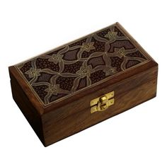 Armoire Jewelry Box Wood Carving Indian Handmade Gifts Unique New   eBay