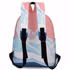 93da9396b13c 2016 модельеры пара вышитые туристические рюкзаки корейский harajuku сумки  пейзаж школьные сумки для девочек-подростков ZZ149