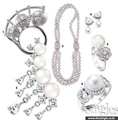 WHITE BALL Color Stone, Stone Jewelry, Pearl Necklace, Pearls, String Of Pearls, Beads, Pearl Necklaces, Gemstones, Pearl