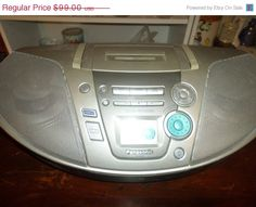Save 70% Today Panasonic RX-ES20 Sound Virtualizer Boom Box Ghetto Blaster Feather Touch Operation CD and Cassette Player Works Perfect