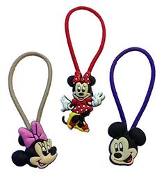 Mickey Mouse and Friends Colorful Hairband Ponytail Holder Mini Set 3 Pcs *** More info could be found at the image url.
