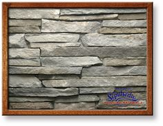Large Photo of New England Blue Range Ashlar Strip Thin Veneer