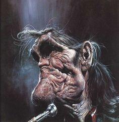 Chet Barker Caricature by Sebastian Kruger