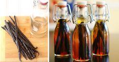 3 recepty na domáci vanilkový extrakt, ktorý vaše pečenie posunie o kúsok ďalej. S alkoholom aj bez neho. Recept na extrakt z vanilkových strukov Korn, Drinks, Bottle, Cooking, Drinking, Kitchen, Beverages, Flask, Drink