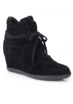 8ae1949560fc Ash Bowie Wedge Trainers in Black Ash Bowie