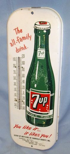 Vintage 7-Up Thermometers