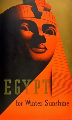 Original Vintage Posters -> Travel Posters -> Egypt for Winter Sunshine Great Sphinx of Giza - AntikBar
