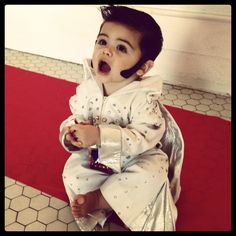 Cutest baby boy Elvis Halloween costume.
