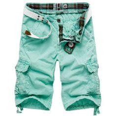 New 2014 Men Shorts: Fashion Bermuda Casual Big Size Summer Cotton Sports Cargo Shorts Short Trousers, Khaki Yellow Green Gray