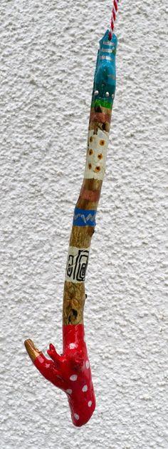 Musikinstrumente Folklore & Welt 1x Australien Didgeridoo Ständer Holz Baumscheibe SchöN Und Charmant