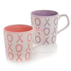 Hues Brews Mug Assorted 2 by 2 XOXO Set of 4 * You can get additional details at the image link. (This is an affiliate link) Coffee Drinks, Coffee Mugs, Program Design, Are You Happy, Brewing, Ceramics, Make It Yourself, Canning, Tableware