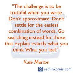 Kate Morton quote on writing