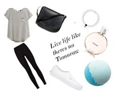 """""""Live life like there's no tomorrow"""" by keiramcevoy on Polyvore featuring H&M, Mansur Gavriel and Vans"""