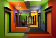I know, it's an elevator lobby...but how fun and well done!