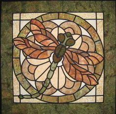 Stained Glass Dragonfly Quilt pattern!