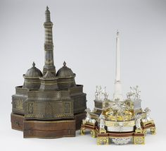 Case for inkstand 1792 Vincenzo Coaci (Italy, Europe) Leather 31 1/4 x 22 1/2 x 17 in. (79.38 x 57.15 x 43.18 cm) Gift of funds from The Morse Foundation 69.80.2a-c This object is ON VIEW in Gallery G310 This leather carrying case takes the form of a fortified medieval town, a clear reference to its purpose - to protect the silver inkstand nearby. Minneapolis Institute of Arts - The Collection