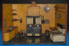 uralte Biedermeier Rauchfang Puppenküche & Zubehör Blech Handarbeit * 1820-1840